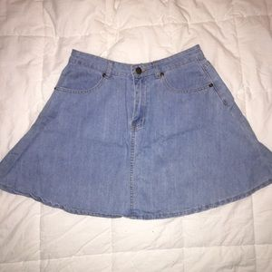 Flared jean skirt
